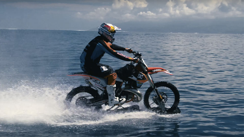 Watch Robbie Maddison Go Surfing on a Dirtbike