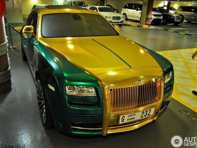 Green and Gold Rolls-Royce by Mansory