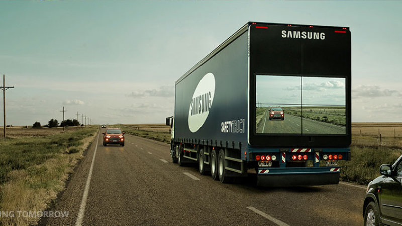 Samsung Shows Off See-Through Truck Tech