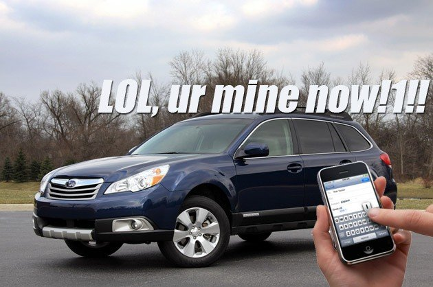 Hackers prove they can break into Subaru Outback via texting