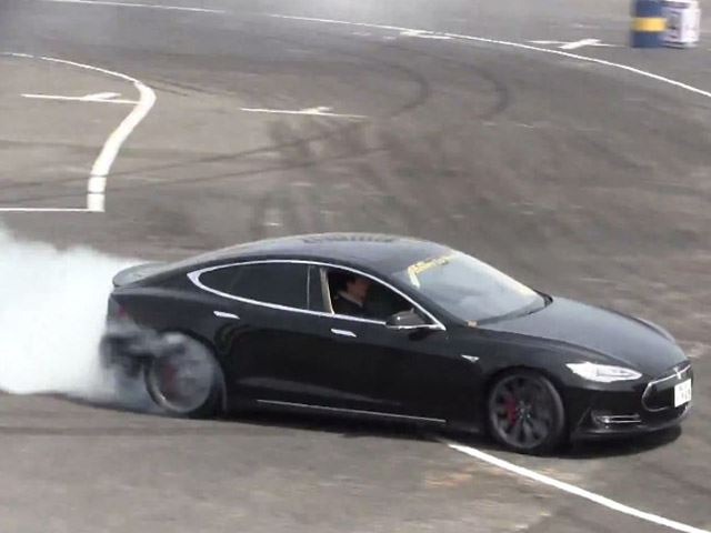 Do You Think a Professional Drifter Can Get the Model S Sideways?
