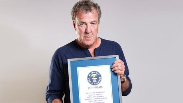 Top Gear Snags Guinness Record For Being World's Most Widely Watched Factual Show