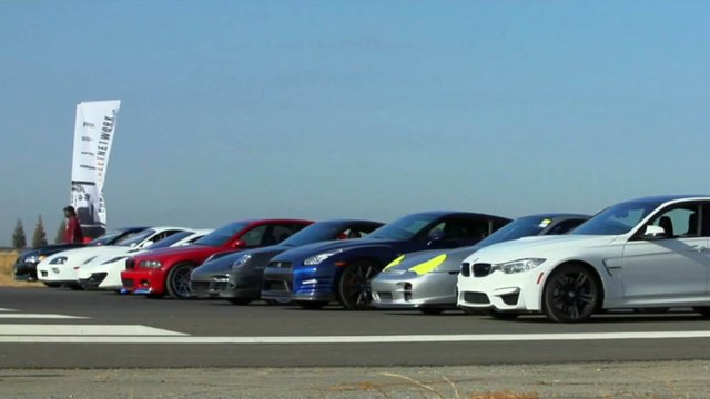 Hellacious Tuner Cars Line Up for Half-Mile Drag Race