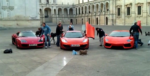 Top Gear Spotted In Italy With New Lamborghini, Mclaren And Noble