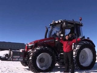 A Dutch Actress Has Just Reached the South Pole Using a Cold Weather Equipped Tractor