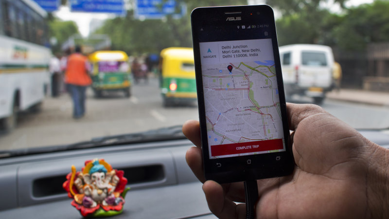 Report: Ride-Hailing Service Uber to Put $1 Billion in India