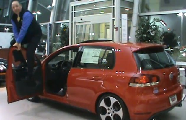 Forget kicking tires, VW dealer shows off GTI durability with enthusiasm