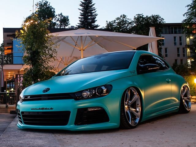 Slammed Scirocco Comes With Matt Caribbean Metallic and 370 HP