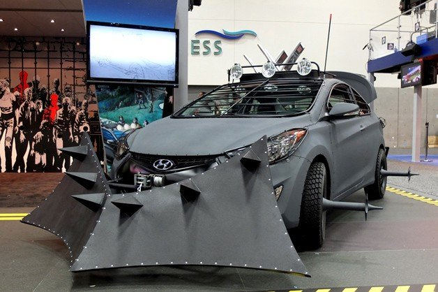 Hyundai Elantra Coupe Zombie Survival Machine Makes Comic Con Debut
