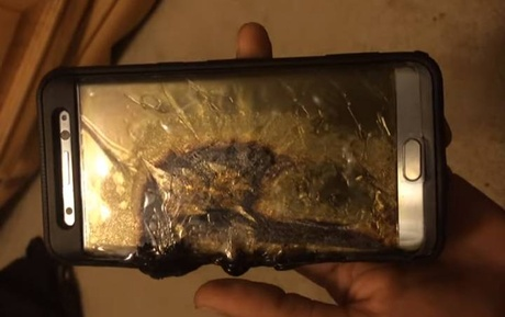 Note 7 burned