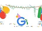Google celebrates 18th birthday, as it has done on this date for 11 years