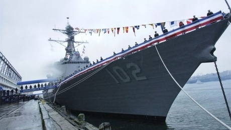 The USS Sampson will be the first US warship to visit New Zealand in 30 years