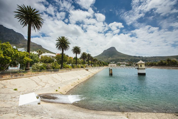 Molteno reservoir in Cape Town, South Africa