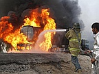 Nigerians Burnt In Rivers State Fuel Tanker Explosion