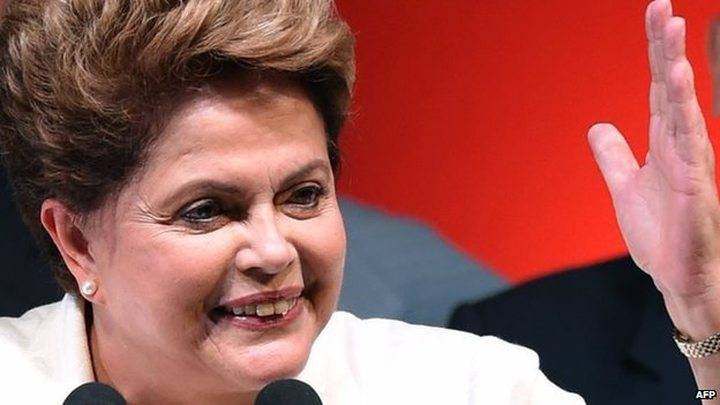 """Ms Rousseff said she wanted to be """"a much better president"""" and promised political reform"""