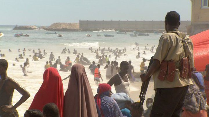 Illustration: Lido beach is a popular place for Somalis to relax