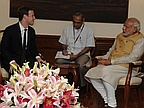 When Mark Zuckerberg Met Narendra Modi - in a Suit and Tie