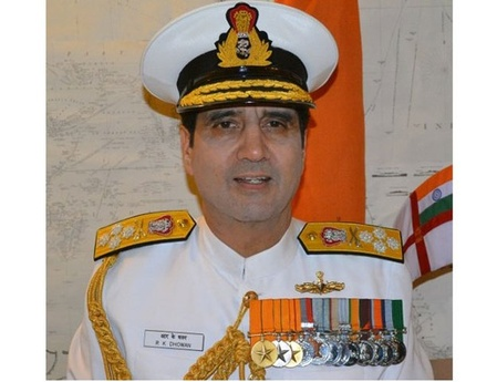 Archive Photo: Indian Navy chief Admiral RK Dhowan