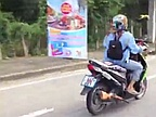 Video of the Day: Parrot Escorting its Master on Scooter