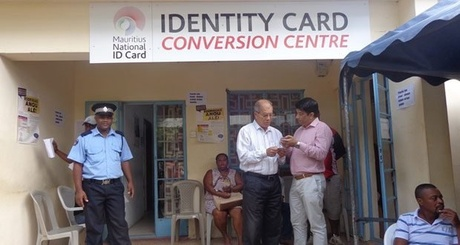Archive Photo: ID Card Conversion Centre, Rodrigues