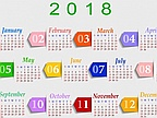 The List of Public Holidays in 2018