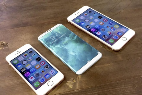 iPhone 8 concept compared to iPhone SE and iPhone 7 Plus...