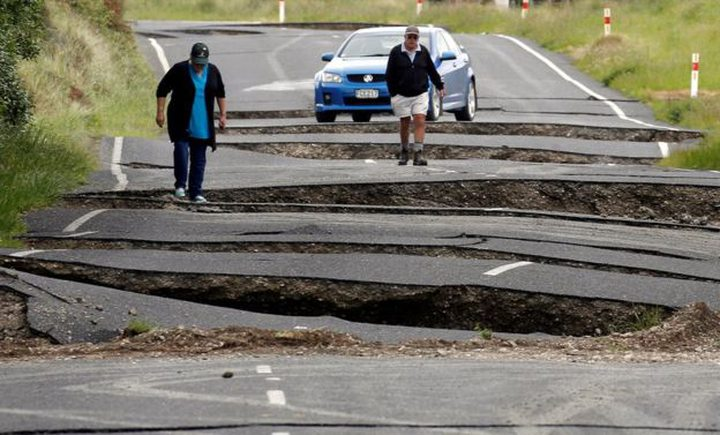The first earthquake warped and cracked a highway on the South Island