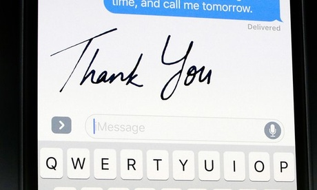 Updating to iOS 10 allows users to send animated doodles and handwritten notes via Messages