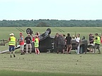 A Spitfire crashed on takeoff during airshow in North of France