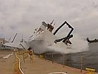 Video of the Day: Giant Ship First Launch Gone Wrong