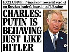 Prince Charles Compares Vladimir Putin to Adolf Hitler During Talk With Holocaust Survivor