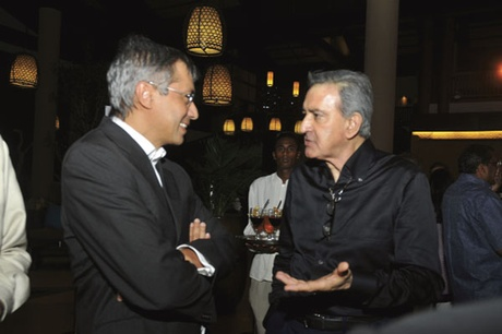 Archive Photo: Dawood Rawat with Xavier-Luc Duval