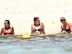 France's Former First Lady Valerie Trierweiler Hits the Beach with the Girls in Mauritius