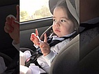 Toddler waits patiently for the beat to drop, adorable dancing ensues