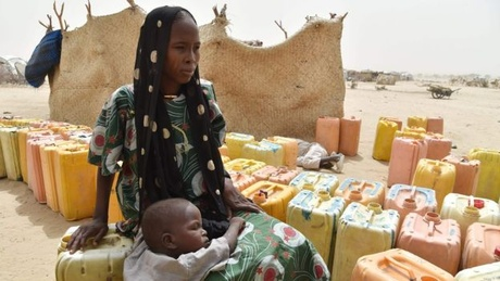 This woman and her child have fled Boko Haram violence in Niger and are living in a refugee camp